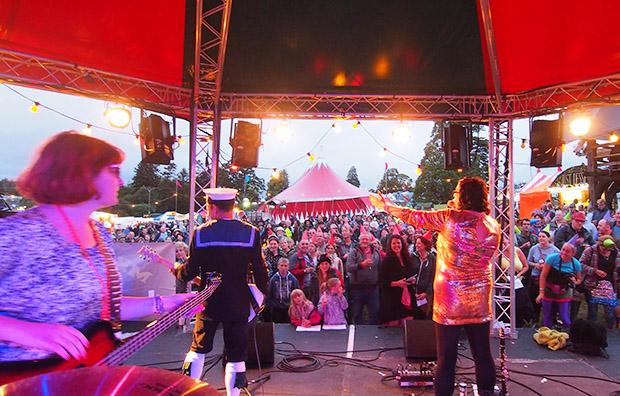 Mrs Mills Experience at the BEAUTIFUL DAYS FESTIVAL Escot Park, Nr Fairmile, Devon, England, Sat 17th-Sun 18th Aug 2013