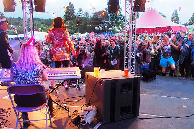 Mrs Mills Experience at the BEAUTIFUL DAYS FESTIVAL Escot Park, Nr Fairmile, Devon, England, Sat 17th-Sun 18th Aug 2013